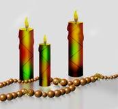 Drei Kerzen Lizenzfreies Stockfoto