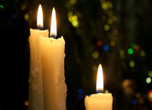 Drei Kerzen Lizenzfreies Stockbild