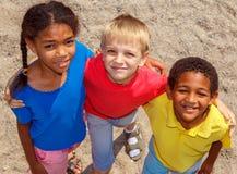 Drei Kinder Stockbild