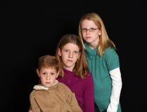 Drei Kinder mit Freckles Stockfoto