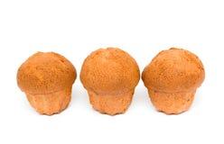 Drei kleine Fruchtkuchen stockfoto