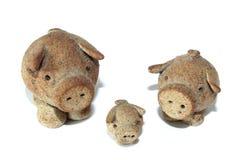 Drei kleine Schweine Stockbild