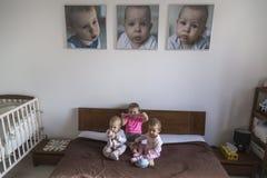 Drei kleine Schwestern Stockfoto