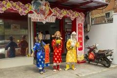 Drei kluge chinesische Männer lizenzfreies stockfoto