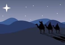 Drei Klugmänner, die reisen, um zu sein Stockbild