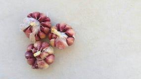 Drei Knoblauchkohlpflanzen Stockfoto