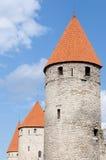 Drei Kontrolltürme Tallinn Stockfotografie