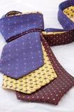 Drei Krawatten Stockbild