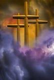 Drei Kreuze stockbild