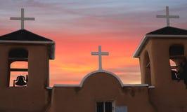 Drei Kreuze bei Taos, New-Mexiko Stockbild