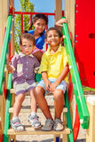 Drei lächelnde Kinder Stockfoto