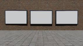 Drei leere Anschlagtafeln lizenzfreie stockfotografie