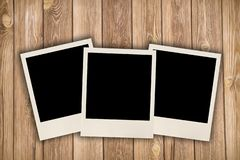 Drei leere Bilder stockfotos