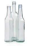 Drei leere Flaschen Lizenzfreies Stockbild