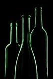 Drei leere Flaschen Lizenzfreie Stockfotos
