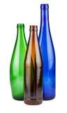 Drei leere Flaschen stockbild