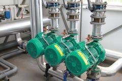 Drei leistungsfähige Pumpen Lizenzfreies Stockbild