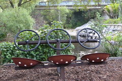 Drei Lenkräder Lizenzfreie Stockfotografie