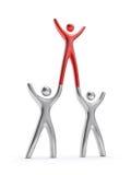 Drei Leute-Teamwork-Entwicklung Lizenzfreies Stockbild