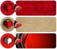 Drei Liebes-Fahnen Stockbilder