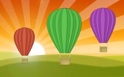 Drei Luftballone Stockfotos
