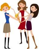 Drei Mädchen stock abbildung