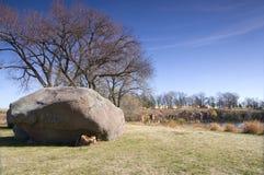 Drei Mädchen-Flusssteine und Steinbruch bei Pipestone Stockfoto