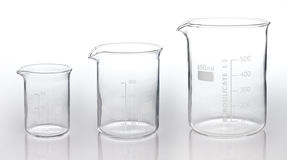 Drei Messen glassess Stockfoto