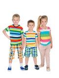 Drei Modeblondinenkinder Stockfotos
