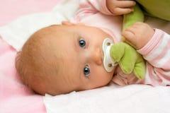 Drei Monate alte Säuglings. Stockbilder