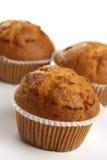 Drei Muffins Stockfotografie