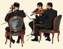 Drei Musiker klassisches Orchester vektor abbildung