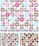Drei nahtlose Hintergrund-Muster mit Ordnung. Stockfotografie