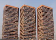 Drei neue builded Häuser Lizenzfreie Stockfotografie