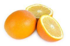 Drei Orangen Stockfotos
