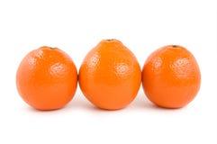 Drei Orangen Stockbilder