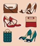 Drei Paar Schuhe Lizenzfreies Stockfoto