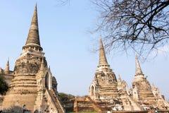 Drei Pagode, Wat Phra Si Sanphet lizenzfreies stockfoto