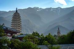 Drei Pagoden Chongsheng-Tempel, herrührend von die Zeit von Lizenzfreies Stockbild