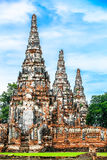 Drei Pagoden in Thailand Lizenzfreie Stockfotos