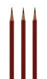 Drei parallele Bleistifte Stockbilder