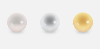 Drei Perlen Stockfotos