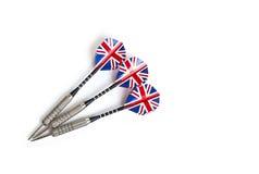 Drei Pfeile mit britischer Flagge Stockfotografie