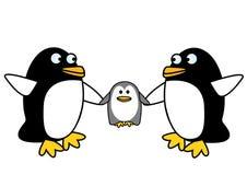 Die drei Pinguine Stockfotos