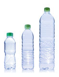 Drei Plastikflasche Wasser Stockbild