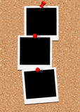 Drei polaroidfelder Stockfotografie
