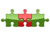 Drei Puzzlespiele Stockfoto