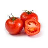 Drei reife rote Tomaten Lizenzfreies Stockbild