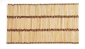 Drei Reihen vielen Matches auf weißer Hintergrundansicht von oben Lizenzfreies Stockbild