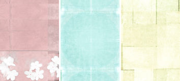 Drei reizende Hintergrundbeschaffenheiten Lizenzfreies Stockbild